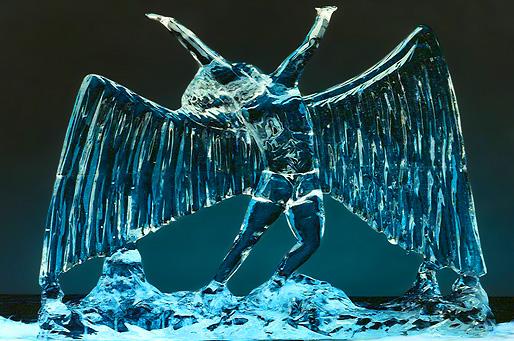 Eisskulptur für die neue Webseite von Horst Birekoven Eisdesign